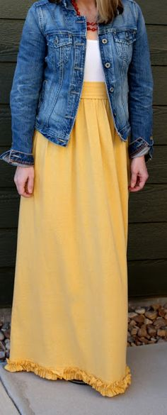 DIY maxi tank dress - she used a thrift store jersey sheet for the skirt! (2nd Story Sewing: Here Comes the Sun Dress)