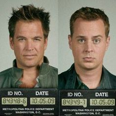 Tony DiNozzo (played by Michael Weatherly) and Timothy McGee (played by Sean Murray)... Probably the cutest picture of them ever