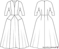 Готовая выкройка шерстяного платья в пол