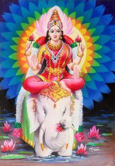 Gaja Laxmi Original Artwork 1960's (via ebay: chitravali51)