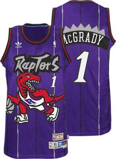 Tracy McGrady Jersey: adidas Purple Throwback Swingman #1 Toronto Raptors Jersey