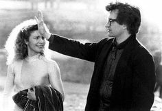 Solveig Dommartin and Wim Wenders