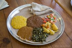 A tasty Ethiopian meal in Washington DC  by tinyurbankitchen, via Flickr