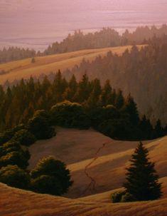 From the Ridge Road, Mt. Tamalpais, Bolinas, Stinson Beach, marin county landscape painting, Northern California landscape painting, Northern California coastal painting www.terrysauve.com