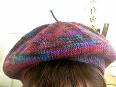 Ravelry: 2 Needle Beret pattern by Rita C Taylor - beret knit flat with DK weight yarn