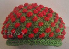 Tığ İşi Çilek Şapka & Bere crochet strawberry hat.. yapılışı için: http://www.marifetane.com/2014/01/tg-isi-cilek-sapka-bere-crochet.html