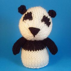 A little knitted amigurumi panda.  Comes with a body to make a stuffed toy, a finger puppet and an egg cosy.  For more info on how to buy my patterns please see my profile or have a peek at my blog: www.jellybums.blogspot.com/