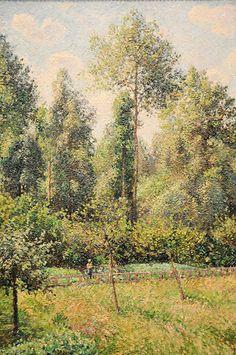 Camille Pissarro - Poplars, Eragny at New York Metropolitan Art Museum