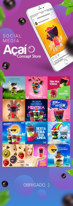 Confira este projeto do @Behance: u201cSocial Media | Açaí Conceptu201d https://www.behance.net/gallery/51799783/Social-Media-Acai-Concept