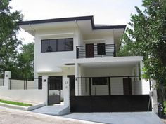 Awesome 40 Relaxing Minimalist House Plan Ideas That Trend Now. House Plans 2 Storey, Double Storey House, 2 Storey House Design, Small House Design, Modern House Design, Modern Minimalist House, Modern Zen House, Minimalist Style, Modern Tropical House