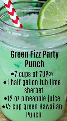 Fizz Party Punch Green Fizz Party Punch ~ Quick, easy to make and the taste is amazing.Green Fizz Party Punch ~ Quick, easy to make and the taste is amazing. Kid Drinks, Summer Drinks, Cocktail Drinks, Cocktails, Alcoholic Beverages, Halloween Alcoholic Drinks, Non Alcoholic Drinks Green, Halloween Party Drinks, Summer Drink Recipes