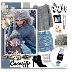 Casetify #Romantic #Winter | Casetify.com by melissa-de-souza on Polyvore featuring moda, Chicwish, Ashish, Valentino, Casetify, Imposter, Christian Dior, Bobbi Brown Cosmetics, Paolo and women's clothing