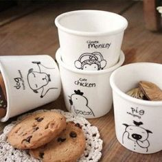 cheap price lovely animal cups Ceramic Eco Cup porcelain Mug Coffee Cup milk cup