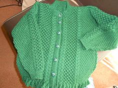 LOVELY HAND KNITTED  GIRLS CARDIGAN TO ORDER  SIZES 0-5 YEARS