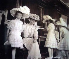 Princess Victoria (Edward Vii daughter) with her Russian Cousins