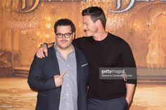 Josh Gad and Luke Evans attend the 'Beast And Beauty - La Belle Et La Bete' Paris Photocall at Hotel Meurice on February 20, 2017 in Paris, France.