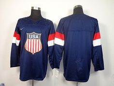 mens nike usa hockey 2014 winter olympics games stitched usa flag  logos navy jersey