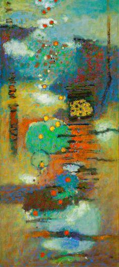 "rickstevensart: Floatation oil on canvas | 72 x 32"" | 2015Rick Stevens 2015"