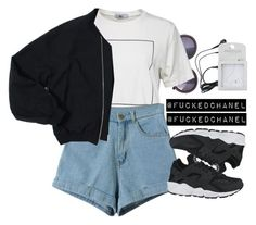 • B A S I C. • by fuckedchanel on Polyvore featuring polyvore, fashion, style, NIKE and Topshop