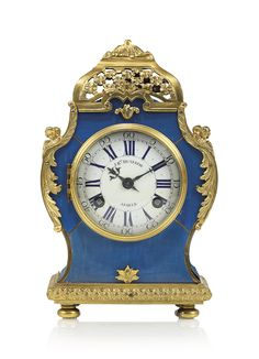 AN EARLY LOUIS XV ORMOLU-MOUNTED BLUE STAINED HORN CARTEL CLOCK | JEAN-BAPTISTE DUTERTRE, PARIS, CIRCA 1735 | striking, mantel | Christie's French Clock, Old Antiques, Horns, Vintage, Antique Furniture, Pendulum Clock, Horn, Vintage Comics, Antlers