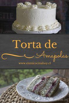 TORTA DE AMAPOLA- La torta de amapolas es muy popular en Chile especialmente en la zona sur del país. Esta con un suave y aireado bizcocho les va a encantar.