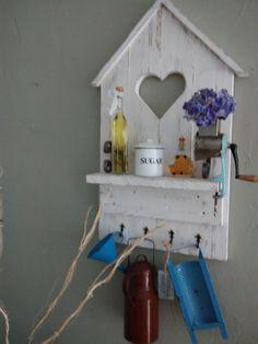 Deko-Objekte - Shabby Deko-Fensterladen Regal Holz Landhaus Küche - ein Designerstück von shabby-homeHS bei DaWanda