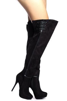 Black Faux Suede Thigh High Platform Boots @ Cicihot Boots Catalog:women's winter boots,leather thigh high boots,black platform knee high boots,over the knee boots,Go Go boots,cowgirl boots,gladiator boots,womens dress boots,skirt boots.