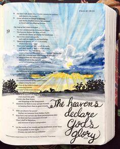 De hemelen vertellen Gods eer , en het uitspansel verkondigt het werk Zijner handen . Psalm 19:2