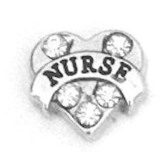 Crystal Nurse Floating Locket Charm Floating Nurse by JSueBaubles, $2.00