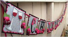 Handmade Banner  Custom made  GO GREEN  Name Banner by nadyasworld,