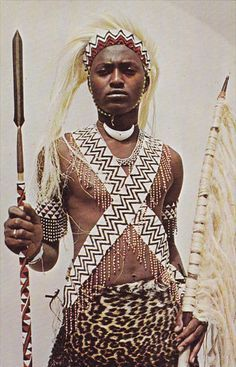 Watusi warrior - Burundi