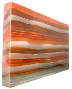 Luscious architectural glass surfaces for countertips tables partitions and more - custom slab.