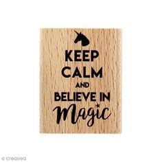 Compra nuestros productos a precios mini Sello de madera Believe - 4 x 5 cm - Entrega rápida, gratuita a partir de 89 € !