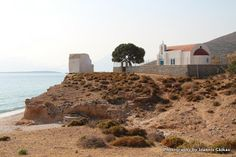 Panagia Grafiotisa on the island of Pserimos in Greece. A beautiful Church right next to the beach a few kilometers away from the main harbor. Kos, Greek Islands, Greece, Landscapes, Building, Beach, Water, Travel, Outdoor