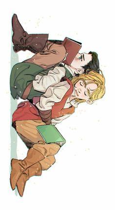 Nap time II    Loki & Thor / ThorKi    Cr: Roku21