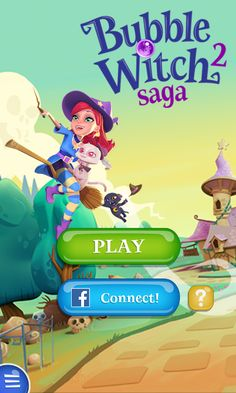 Bubble Witch 2 by King - Splash Screen - Match 3 Game - iOS Game - Android Game - UI - Game Interface - Game HUD - Game Art