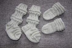 Taigaduu: Vauvan sukat ja tumput Baby Gift Sets, New Baby Gifts, Easy Crochet Patterns, Baby Knitting Patterns, Baby Socks, Baby Hats, Woolen Socks, Knit Baby Dress, Baby Booties