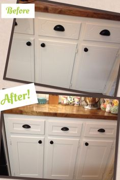 kitchen cabinet refacing project diy shaker trim done before and after