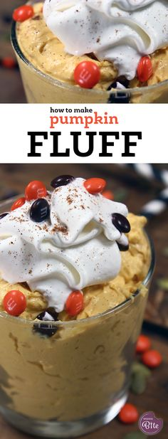 How to Make Pumpkin Fluff! This is only FOUR ingredient and takes minutes to…
