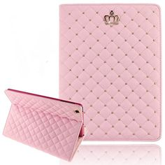 iPad Mini Cases for Teen Girls, Umiko(TM) iPad Mini Cute Crown Bling Luxury Flip PU Leather Rhombus Quilted Smart Case for iPad Mini -Pink Umiko http://www.amazon.com/dp/B00T47T1N2/ref=cm_sw_r_pi_dp_Zo5yvb15FDR9Z