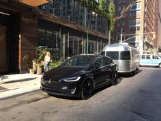 Camping with style ... in NYC. #Tesla #Models #car #Automotive #cars #Autos