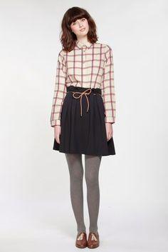 Miss Patina/ミスパティーナ - ベルト付きハイウエストスカート (ネイビー) - ファッション通販セレクトショップ SIAMESE/サイアミーズ