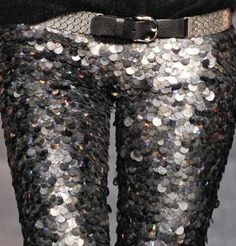 Can't get enough of skinny sequin trousers