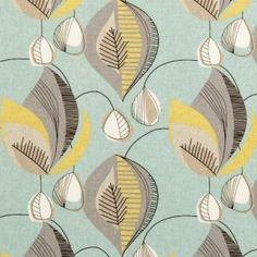 Clarke & Clarke Oil Cloth Fabric - Design Starlight in Aqua Aqua Fabric, Floral Fabric, Pillow Fabric, Curtain Fabric, Curtain Material, Aqua Curtains, Curtains Living, Lined Curtains, Clarke And Clarke Fabric