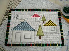 nice and simple design mug rug