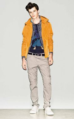 #Bold #colors for a fresh #urban #style! This is the #Sisley #SS2013 collection! #orange #sporty #urban #menswear #menstyle #streetwear