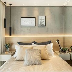 8 Cheap Things to Maximize a Small Bedroom. Home Decor Bedroom, Modern Bedroom, Bedroom Wall, Master Bedroom, Design Your Home, Home Interior Design, Interior Sketch, Cafe Interior, Apartment Interior