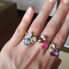 Gemstone rings by Gaby Marcos Atelier