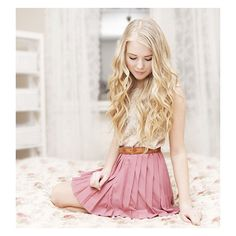 H&M skirt WITH MY PINK SKIRT ON Fanny Lindblad ❤ liked on Polyvore featuring pictures, icons, people, hair and outfits