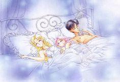 Serena, Rini, and Darien